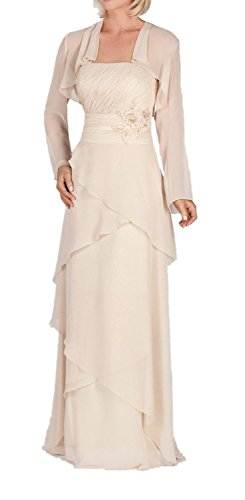 ALfany Women's Long Mother of the Bride Dress with Jacket US12