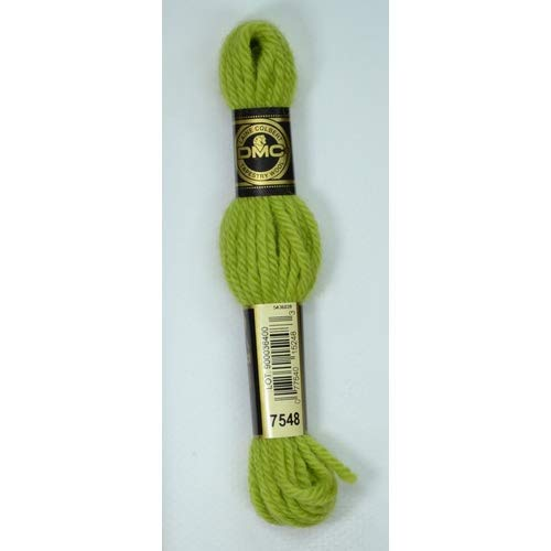 DMC Thread Floss for Embroidery Wool II (7548 Light Olive, 1) ()
