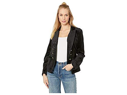 Velveteen Jacket Blazer - cupcakes and cashmere Women's belisma Velveteen Double Breasted Blazer, Black, 8