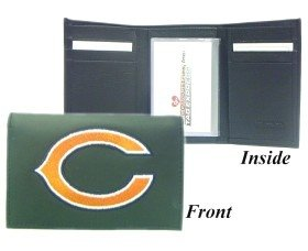 Chicago Bears Embroidered Leather Tri-Fold Wallet