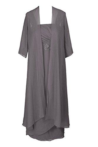HWAN Jacke Abendkleid der Grau Tee Braut Schultergurte L nge Mutter mit r6xrwq7pT
