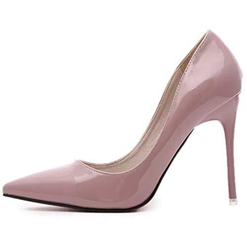 Cerimonia Sexy A Per Scarpe Punta Alto Tacco Corte Donna Da Décolleté Pink wgZS0q