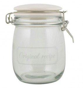 Vorratsglas Glas mit Keramikdeckel Bügelverschluß Aufdruck \'Original ...