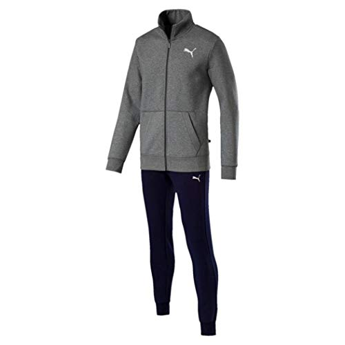 Suit Puma Stile Cl Sweat Medium peacoat Heather Uomo851555 Good Gray 80nmNw