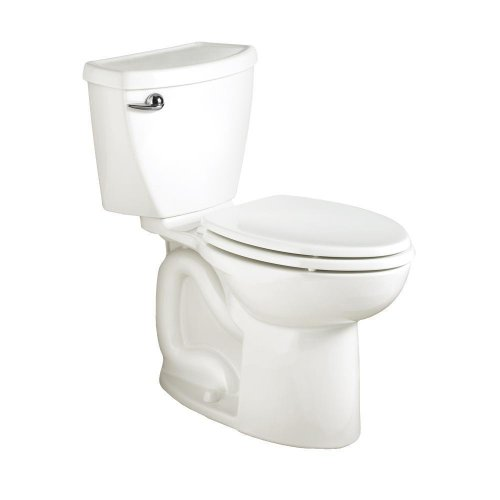 American Standard Cadet 3 Right Height Elongated Flowise Two-Piece High Efficiency Toilet with 12-Inch Rough-In, White White by American Standard