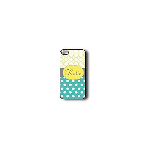 Krezy Case Monogram iPhone 5s Case, Colorful Chevron Pattern with polka dots Monogram iPhone 5s Case, Monogram...