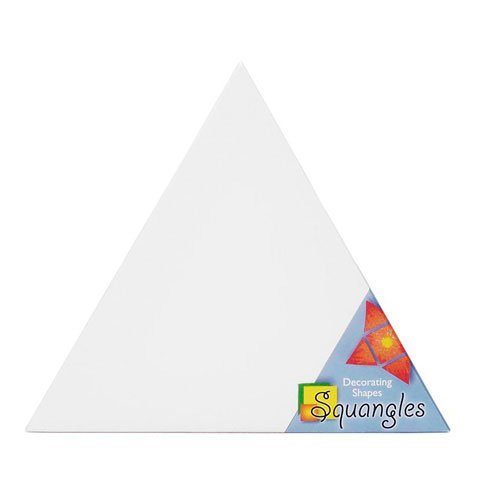 Bulk Buy: Darice DIY Crafts Squangles Decorating Shapes Triangle Canvas Panel 12 in (6-Pack) SQ116
