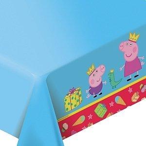 [RusToyShop] 1psc Tablecloths Polyethylene Peppa Pig Birthday Party Favors Party (Peppa Pig Table Cloth)
