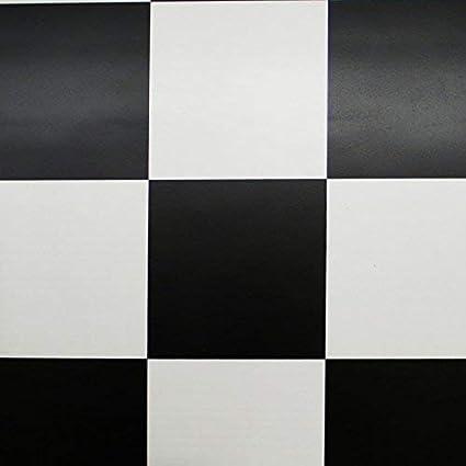 9,50 /€ p. m/² PVC Bodenbelag Schachbrett Schwarz Wei/ß 2,00 mm Breite: 200 cm x L/änge: 600 cm