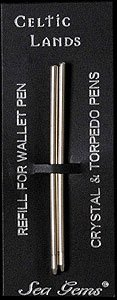 Wallet Pen Refills for Celtic and Mackintosh Design Wallet, Bookmark and Pearlised Pens Celtic Design Pen