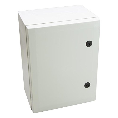 Fibox Enclosures ARCA 403021 No-MP Non-Metallic Polycarbonate Enclosure with Double-Bit Locking Opaque Cover, 8.26