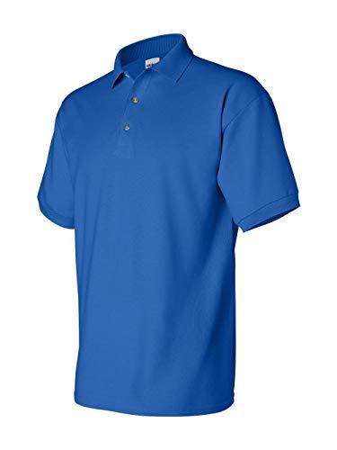Gildan Mens Ultra Cotton Pique Polo Shirt (XL) - Golf Shirt Combed Pique Cotton