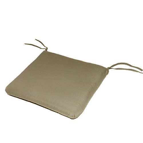 20W x 19Dx 2.5H Sunbrella Indoor/Outdoor Knife Edge style seat pad cushion in Antique Beige by Comfort Classics Inc. Made in USA (Cushions Antique Sunbrella Beige)