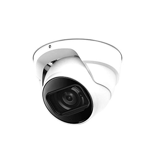 DHTek 4in1 TVI/AHD/CVI/960H Security Camera, 2.4MP HD Resolution, Motorized 2.7-12mm Lens, 1080P Indoor Outdoor, OEM Dahua HAC-HDW1200T-Z, Matrix IR Night Vision Dome Camera, UL Listed Certified