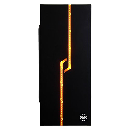 CUK Lineage Micro ATX Tower PC (Intel Pentium G4400 CPU, 8GB DDR4 RAM, 1TB HDD, NVIDIA GTX 1050 2GB, Windows 10) - Cheap Small Business LED Lighting Gaming Desktop Computer - Black