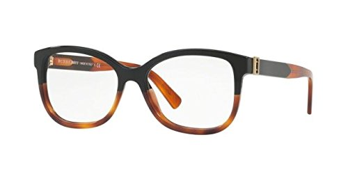 Burberry BE2252 Eyeglass Frames 3632-52 - Black / Havana BE2252-3632-52