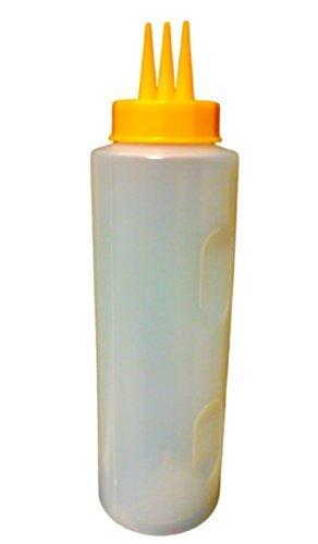 - JAPAN SHOP Japanese Plastic Sauce Squeeze Condiment Bottles 3 Hole Dispenser