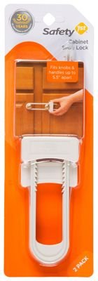 Price comparison product image Safety 1st Cabinet Slide Lock - White / 2 ct