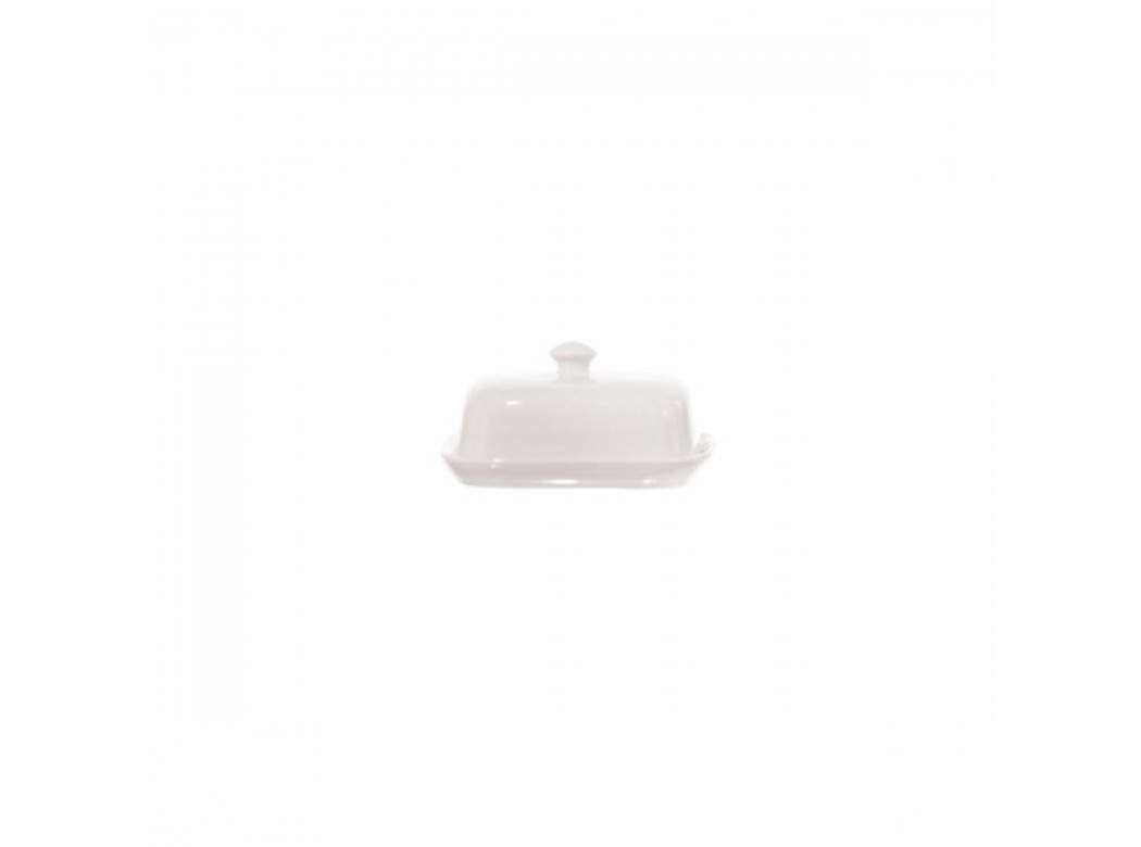 la Porcellana Terrine Cov. Butter Dish cm 10,5X8,5 GB, White Unitable P001503501