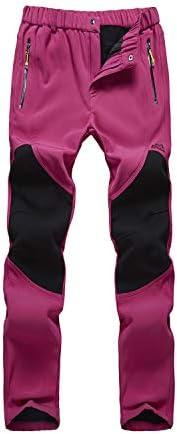 BUAAM Men's/Women's Winter Outdoor Snow Pants Fleece Lined Windpro