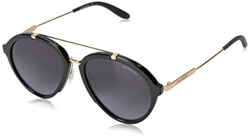 Carrera Men's Ca125s Aviator Sunglasses, Shiny Black Gold/Gray Gradient, 54 - Carrera Nyc