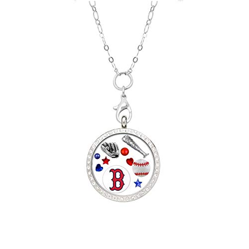 (Final Touch Gifts Boston Red Sox Floating Locket on a 32