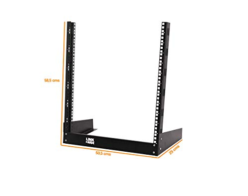 12U-High 2-Pole 19''-Wide Floor Standing Bare Network Rack