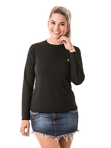 Camiseta Feminina Com Proteção Solar Manga Longa Extreme Uv Dry