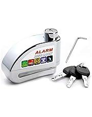 Trava de Disco com Alarme Anti Furto Segurança Proteção Moto - Cromada