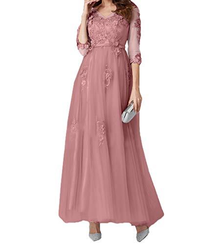 Tuell Knoechellang Braut Abendkleider Rosa Alt Linie Spitze A Ballkleider mia Promkleider La 2018 Brautmutterkleider W86qwfg5HP