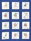 Bulk Buy: Jack Dempsey Stamped White Nursery Quilt Blocks 9''X9'' 12/Pkg Little Boys 300 16 (2-Pack)