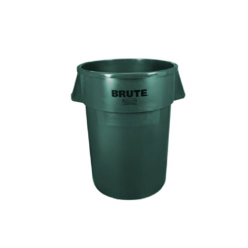 (Rubbermaid Commercial FG264300DGRN Brute LLDPE 44-Gallon Trash Can without Lid, Legend)