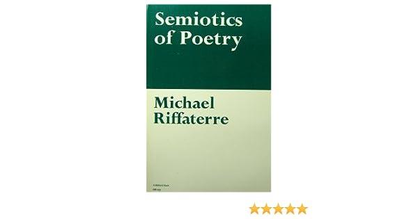 semiotics of poetry riffaterre