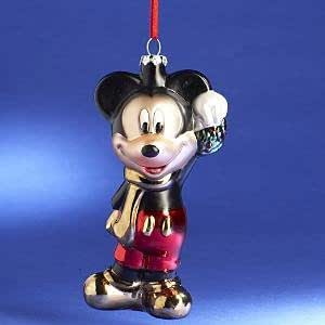 Disney Collectible Blown Glass Mickey Mouse Ornament