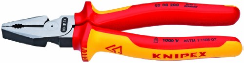 Knipex 0208200US 8-Inch High Leverage Combination Pliers - 1,000 Volt