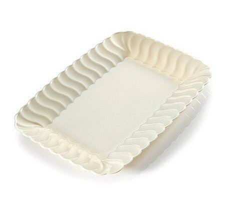 Fineline Settings Flairware White 5 X 7 Snack Tray, 252 Pieces by Flairware