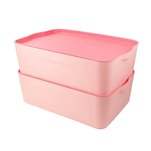 pink plastic storage bins iris small plastic storage basket pink. Black Bedroom Furniture Sets. Home Design Ideas