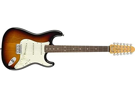 Fender Limited - Guitarra eléctrica de 12 cuerdas japonesas Stratocaster XII en Sunburst: Amazon.es: Instrumentos musicales