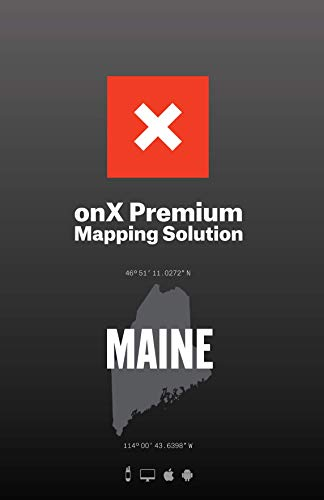 ONX Hunt: Maine Hunt Chip for Garmin GPS - Hunting Maps with Public & Private Land Ownership - Hunting Units - Includes Premium Membership Hunting App for iPhone, Android & Web (Best Hiking Map App)