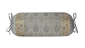 Indian Silk Cushion Cover Sofa Seat Neck Roll Floral Brocade Bolster Pillowcover