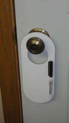 Gentil Rounded Doorknob Hanging Dry Erase Whiteboard