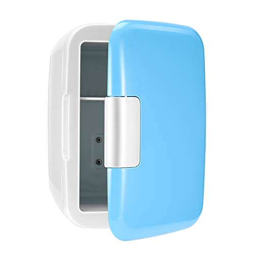 Portable Small Fridger- 4 Liter Compact Cooler Warmer Mini Fridge AC/12V DC – Great for Bedroom, Office, Car, Dorm .Portable Makeup Skincare Fridge -The Best Choose in Summer