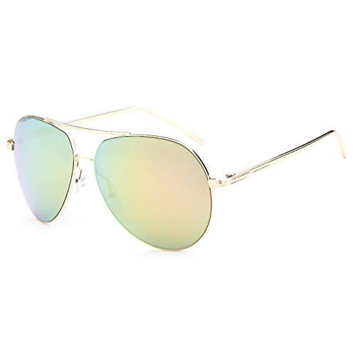 LOMOL Unisex Fashion Classic Aviator Style UV Protection Big Frame Driving Sunglasses(C3)