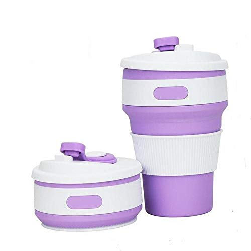 Buy Trady Folding Cup Collapsible Silicone Cup Collapsible Coffee Cup  Multi-Function Foldable Travel Mug, 350ml Collapsible Folding Travel Mug  Coffee Cup Silicone (Purple) Online at Low Prices in India - Amazon.in