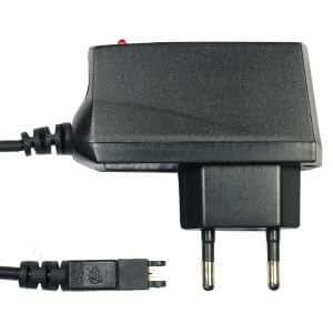 subtel® Cargador - 1.4m (0.5A / 500mA) para Sony Ericsson R310 / R320 / R380 / R520m / R600 / R310s / R320s / R380e / R380s (5V / Sony Ericsson Connector ) Cable de carga negro