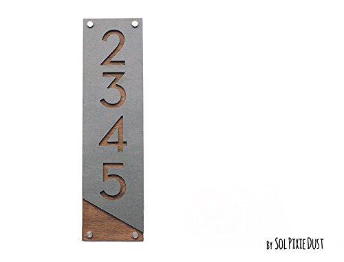 wood address numbers - 4