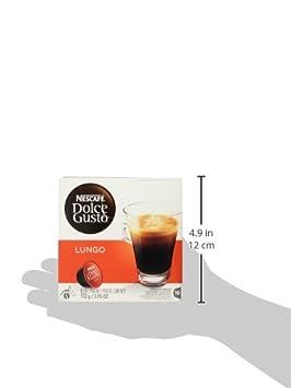 Nescafe - Dolce Gusto - Lungo Coffee Pods 16 Drinks - 112g: Amazon.com: Grocery & Gourmet Food