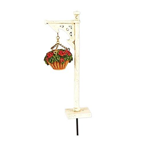 - New Miniature Mary Engelbreit Mini Dollhouse FAIRY GARDEN Accessoriess - Hanging Basket with Stand - Min.