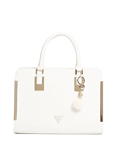 GUESS Factory Women's Angelina Pom Charm Satchel