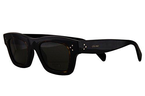 - Celine CL41396/S Sunglasses Black Havana w/Brown Lens T7D70 CL 41396/S